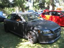 A cool 'Volvo Bat Mobile' at the 32nd Canadion Volvo Club Meet