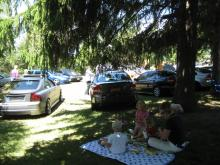 Family Picnic at the 32nd Canadion Volvo Club Meet