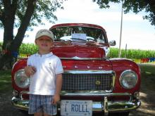Grant and a 544 at the 32nd Canadion Volvo Club Meet