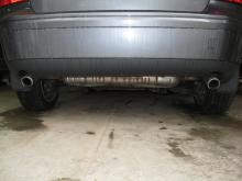 This is the view of the Stock exhaust on my 2005 S40...