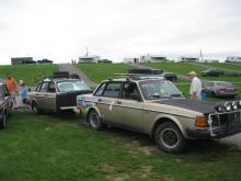 Volvo 240 Twins! A sweet sleeper trailer combo!