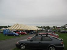 Once again, Saab ruled at the Carlisle show, they had a great tent!