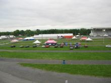 The almost Empty Showfield after the rain started Friday Night...