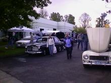 Thats Heather right in front of IPd and a sweet 122 (Which is likely to be our next classic Volvo.)