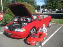Grant showing off our matching C70s for the Volvo Cars of North America 2013 Car Show