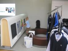 My Son playing in the lobby of Volvo's main office
