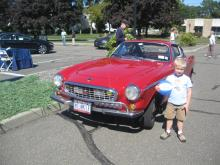My son with Irv Gordon's # Million Mile P1800